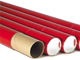 Telescopic Mailing Tubes in Red